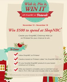 ShopNBC wants to help you check off items on your Christmas Wish List. Show us your holiday favorites for a chance to win a special Wish List shopping spree!