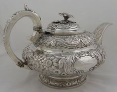 sterling teapot, Mama loved her silver and I got to polish it with her.  We had some good times just sitting together polishing
