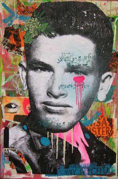 Paint-Bleeding Portraits : cool nyc street art