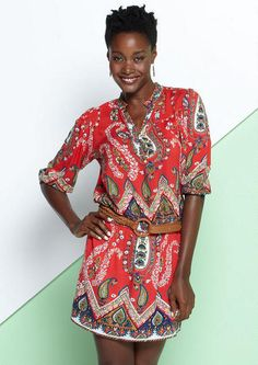 Extended Length Kimi Paisley Embellished Dress - Plus Size Dresses - Alloy Plus - Alloy Apparel