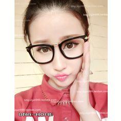 16/40/661眼镜框 女款潮 韩版近视大框眼镜架 复古黑框平光眼镜 眼睛框213-淘宝网