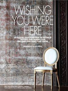 area rugs chair couture chloe magazine photoshoot - Home Furnishing Magazine