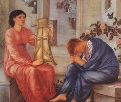 Sir Edward Burne-Jones: The Lament (1866)