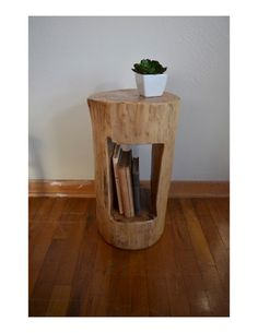 Tree Stump Side Table  Tree Stump End by HandcraftedArcadians                                                                                                                                                                                 More