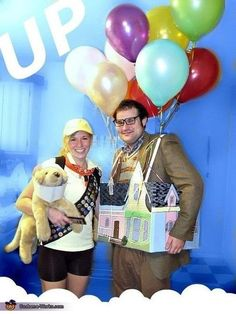 "Halloween Couples Costume Ideas, totally adorbs! Disney couples, a creative costume for ""Up!"""