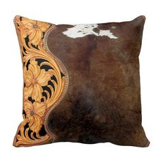 Rest your head on one of Zazzle's Western Southwest Styles decorative & custom throw pillows. Southwestern Decorating, Southwest Decor, Southwest Style, Designer Bed Sheets, Ranch Decor, Leather Workshop, Leather Pillow, Western Homes, Pillow Design