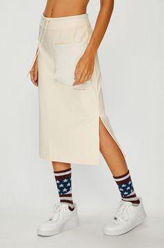 Fusta sport nike Waist Skirt, Midi Skirt, High Waisted Skirt, Nike Sportswear, Fit, Casual, Skirts, Fashion, Tricot