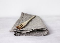 Linen tea towel Organic Washed Linen Kitchen towel by BoHelina  French Linen, French Country, Rustic Kitchen, Linen homewards, Linen towels
