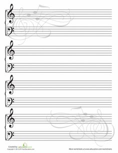 Worksheets: Blank Sheet Music I'd also like it for my personal stationary