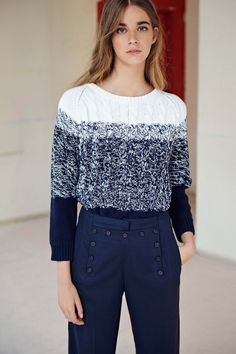 Comptoir des Cotonniers Spring 2016 Ready-to-Wear Collection - Vogue Casual Street Style, Spring 2015 Fashion, Spring 2016, Summer 2016, Spring Summer, Runway Fashion, Fashion Show, Vogue, Knitwear Fashion