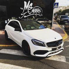 Instagram media by msmotors - Mercedes A 45 AMG By @msmotors & @pieromsmotors  www.msmotors.fr #auto #white #team #swag #sexy #dub #design #fun #full #fashion #hot #like4like #look #luxe #luxury #limited #me #msmotors #wheels #wrap #matt #car #custom #black #new #mercedes #a45 #amg #edition1  Follow My Friends @carswithoutlimits , @carlifestyle , @dubmagazine , @caliwheels, @matteblackauto, @dupontregistry, @amg_lovers_ @m.amg.rs @amg_benz