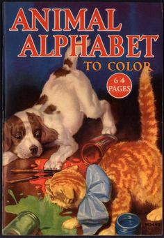Uncolored Animal Alphabet To Color Merrill 1935 1798