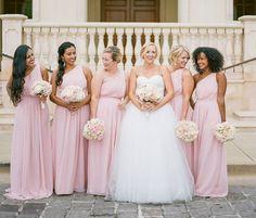 Elegant One Shoulder Pink Chiffon Long Bridesmaid Dress – Winter Dresses Bloğ Winter Bridesmaid Dresses, One Shoulder Bridesmaid Dresses, Winter Dresses, Homecoming Dresses, Formal Dresses, Wedding Dresses, Graduation Dresses, Bridesmaids, Long Gowns Online