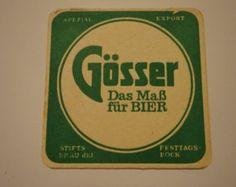 Vintage Gosser Bier, Spezial Export, Austrian beer coaster. Used