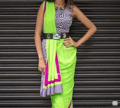 How to style a saree - Gujarati way of draping a saree. #indianfashion #saree #bollywood #indianoutfits #indianwedding #custommade #designdevelopdeliver #buycustom #indiaboulevard #howtodrapeasaree