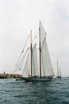Sailing, yes. // Les Voiles de Saint Tropez by kygp Saint Tropez, Bateau Yacht, A Well Traveled Woman, Sail Away, Set Sail, Am Meer, Wooden Boats, Tall Ships, Water Crafts