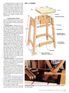 Image result for stool plans