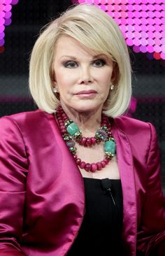 Joan Rivers Fashion Police Necklace | Joan Rivers speaks during the 'Joan Knows Best?' panel at the WE tv ...