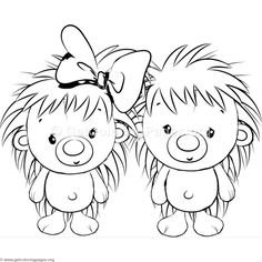 Cute Hedgehog 3 Coloring Pages Adult Coloring Book Pages, Cute Coloring Pages, Coloring Pages For Kids, Coloring Sheets, Coloring Books, Free Coloring, Baby Animals, Cute Animals, Cute Hedgehog