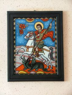 Religion, Glass, Painting, Animals, College, Saint George, Hearts, Animales, University
