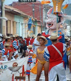 carnaval in Trinidad - part of the 15 Day Tour and 8 Day Tours with Cuban Adventures in June.