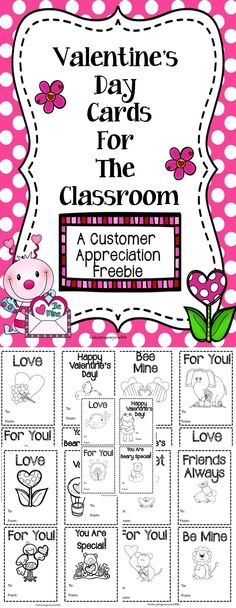 Free Valentine's Day Cards For The Classroom- A great customer appreciation freebie to ensure every child has Valentine's Day cards to participate in card exchanges in the classroom. #tpt #free #Valentine's