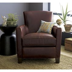 Briarwood Leather Chair In Chairs | Crate And Barrel