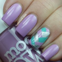Lucy's Stash: Fishtail nail art manicure http://www.lucysstash.com/2012/06/fishtail-nail-art-manicure-with.html