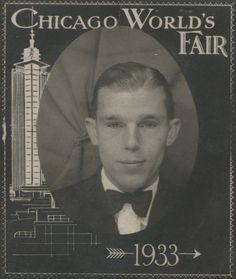 1933 CHICAGO WORLD'S FAIR AMUSEMENT RIDE TOWER BLUE EYED MAN PHOTO PHOTOBOOTH