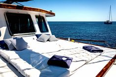 Yachts, Outdoor Furniture, Outdoor Decor, Greek, Exterior, Home, Ad Home, Homes, Outdoor Rooms
