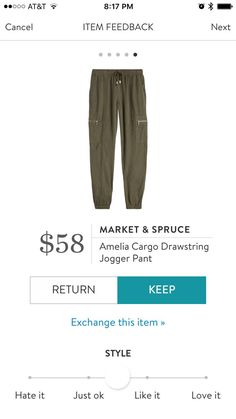 Market & Spruce Amelia Cargo Drawstring Jogger Pant - I like these because they're not super bulky looking.