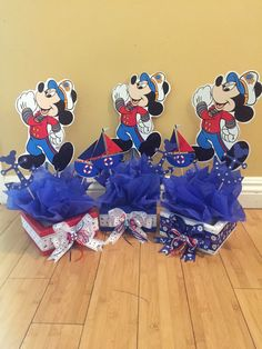 Sailor Mickey Mouse inspired Centerpiece Nautical by SOUTHFLOWER
