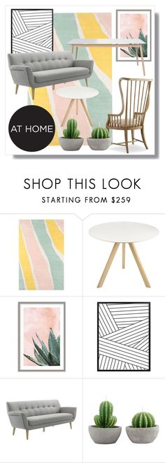 """""""Untitled #16"""" by haybai ❤ liked on Polyvore featuring interior, interiors, interior design, home, home decor, interior decorating, Novogratz Collection, HAY, Art Addiction and Moe's"""