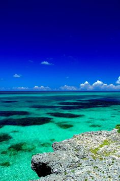 Okinawa, where the water is cerulean and the sea is crystal clear.