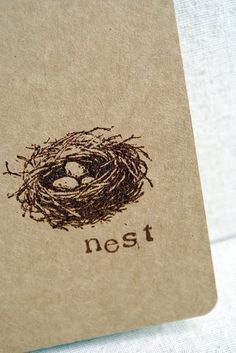 Definitely need to Mod Podge a bird nest image or two in the journal.