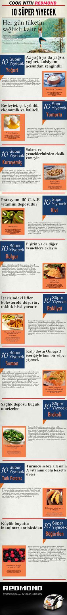 10 Süper Yiyecek ile hem formunuzu koruyun hem sağlıklı kalın!