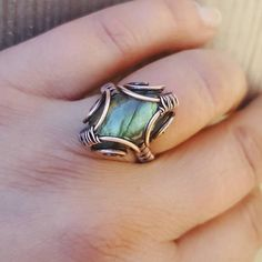 Hey, I found this really awesome Etsy listing at https://www.etsy.com/listing/533163485/wire-labradorite-ring-wire-wrapped-ring