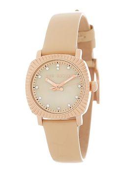 Women's Leather Strap Quartz Watch. Sponsored by Nordstrom Rack.
