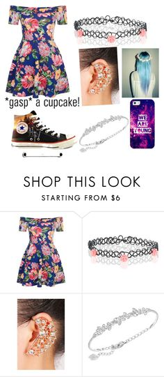 """""""*gasp* a cupcake!"""" by mercy123 ❤ liked on Polyvore featuring New Look, Converse, Accessorize, Swarovski and Casetify"""