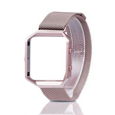 Find amazing For Fitbit Blaze Band, Wearlizer Milanese Loop Watch Band Replacement Stainless Steel Bracelet Strap With Metal Frame for Fitbit Blaze - Rose Gold Pink Small canine gifts for your canine lover. Apple Watch Accessories, Cheap Accessories, Cell Phone Accessories, Stainless Steel Mesh, Stainless Steel Bracelet, Rose Gold Pink, Watch Bands, Fitbit, Metal