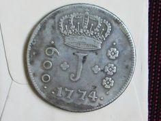 600 RÉIS DE PRATA ANO 1774, SÉRIE JOTA - COLÔNIA - D. JOSÉ I.