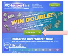 Deborah says....Are you a PCH Super Fan hoping to double a prize win? I say....Sure am !