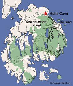 Hulls Cove, Bar Harbor Location Map