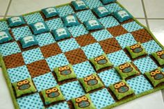 Bean bag checkers tutorial - for those with some sewing experience but not complicated for those without & willing to try
