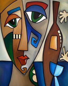 Tom Fedro Artist | Hands Off My Wine By Fidostudio Painting