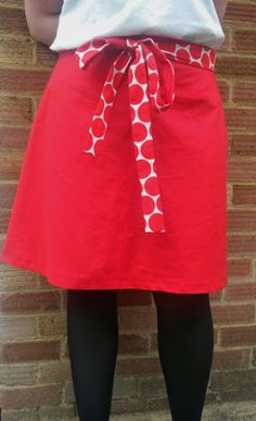 Curly Sew's Miette skirt with spotty bow