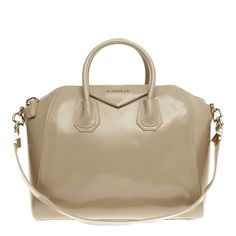 Givenchy Antigona Glazed Leather Medium Beige Tote Bag. Get one of the  hottest styles of 76c8e3d6daf51