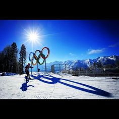 Andrew Musgrave on another training run. Incredible #Sochi2014 scenery. #Padgram