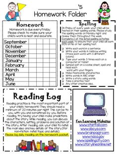 Mrs. Winter's Bliss: The Write Spot! {a homework freebie}