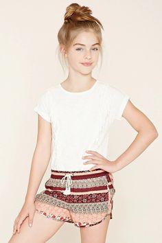 Girls Ornate Shorts (Kids) #f21kids